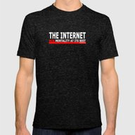 THE INTERNET - MOB MENTA… Mens Fitted Tee Tri-Black SMALL