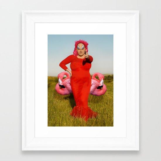 Divine, Pink Flamingos Framed Art Print