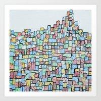 Hill. Art Print