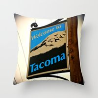 Welcome to Tacoma Throw Pillow