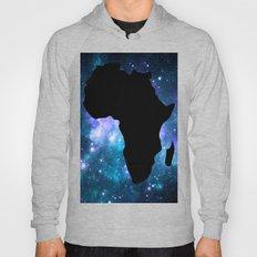 Africa : Teal Blue Violet Galaxy Hoody