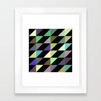 Tilted rectangles pattern Framed Art Print