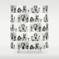 Weeping Angels  Shower Curtain