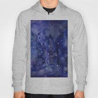 Night Sky Galaxy Stars | Watercolor Space Texture Hoody