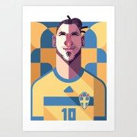 ZI10 | Blågult Art Print