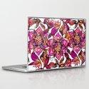 Bright watercolor floral mandala henna hand drawn pattern Laptop & iPad Skin