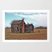 Overgrown Old House Art Print
