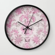 You Can Tapestry V. Pink… Wall Clock