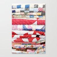 Vintage Quilts Canvas Print