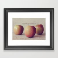 Be a Good One Framed Art Print
