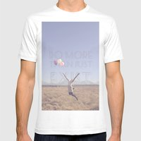 DO MORE THAN JUST EXIST Mens Fitted Tee White SMALL