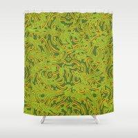 Sixties Swirl Shower Curtain