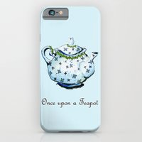 iPhone & iPod Case featuring Once Upon A Teapot by Romina M.