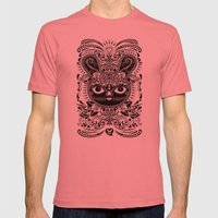 Day Of The Dead Bunny Celebration Mens Fitted Tee Pomegranate SMALL