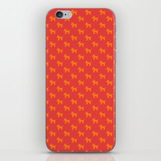 Dogs-Red iPhone & iPod Skin