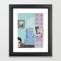 I Scared Her With The De… Framed Art Print