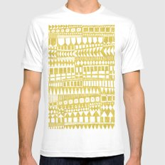 Golden Doodle abstract Mens Fitted Tee SMALL White