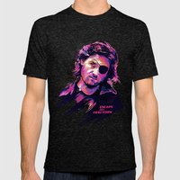 Kurt Russell: BAD ACTORS Mens Fitted Tee Tri-Black SMALL