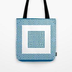Greek Key blue Tote Bag