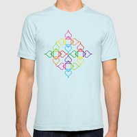 As Mens Fitted Tee Light Blue SMALL