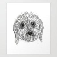 Sky'sDog Art Print