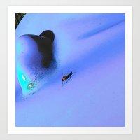 Bug on the blue Art Print
