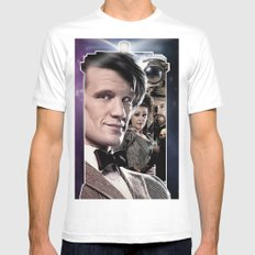Doctor Who -11th Doctor White Mens Fitted Tee SMALL