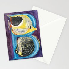 B for Butterfly Fish Stationery Cards