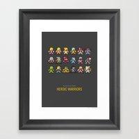 Mega MotU: Heroic Warrio… Framed Art Print