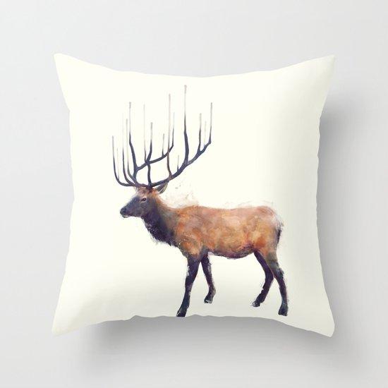 Elk // Reflect (Left) Throw Pillow