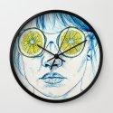 Lemon Lady Wall Clock
