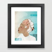 Feathery Turnings (I) Framed Art Print