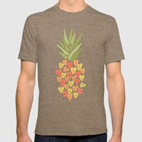 My Pineapple Valentine Mens Fitted Tee Tri-Coffee SMALL