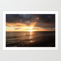 Good Night Sun! Art Print