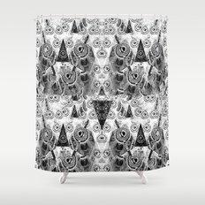 Triangulum Nigrum ad Mortem Shower Curtain