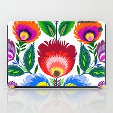 colorful folk flowers iPad Case