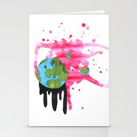 Broken Earth  Stationery Cards