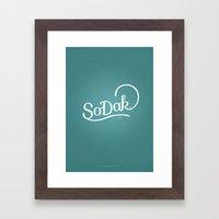 So. Dak. Blue Framed Art Print