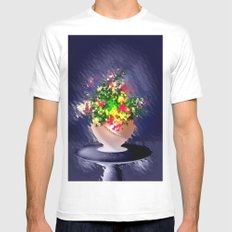 Ton und Blumen. Stilleben. Mens Fitted Tee SMALL White