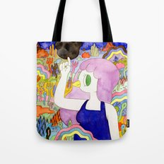 Bird Girl Tote Bag