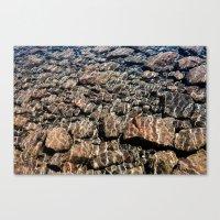 Rocks In Water Canvas Print