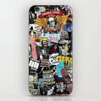 TROUBLE COLLAGE iPhone & iPod Skin