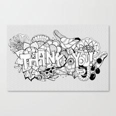 Thank you Canvas Print