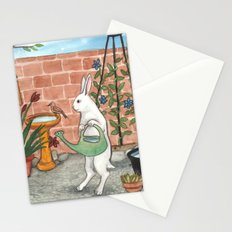 Rabbit's Garden Stationery Cards
