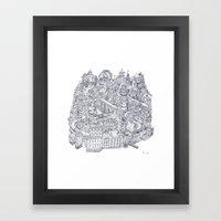 Two Channels b/w Framed Art Print