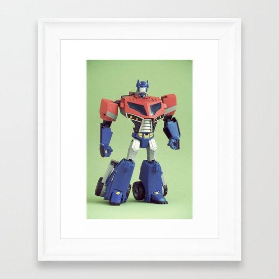 Optimus Prime (Animated) Framed Art Print