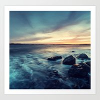 Sunset on the Breakwater Art Print