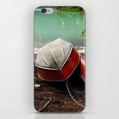 Emerald lake Boat iPhone & iPod Skin