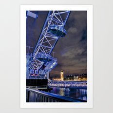 Big City Skyline Art Print