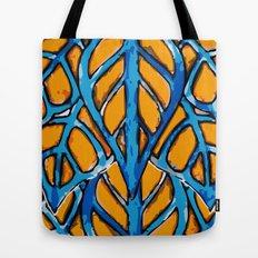 Leaf Blue Tote Bag